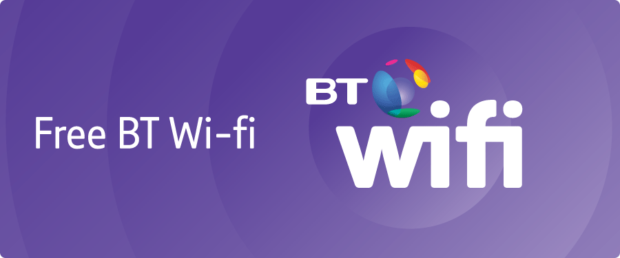 Connect to over 5 million BT Wi-fi hotspots in the UK as part of your BT Extrass, letting you get online for free - meaning you can save your monthly data allowance whenever you want to send.
