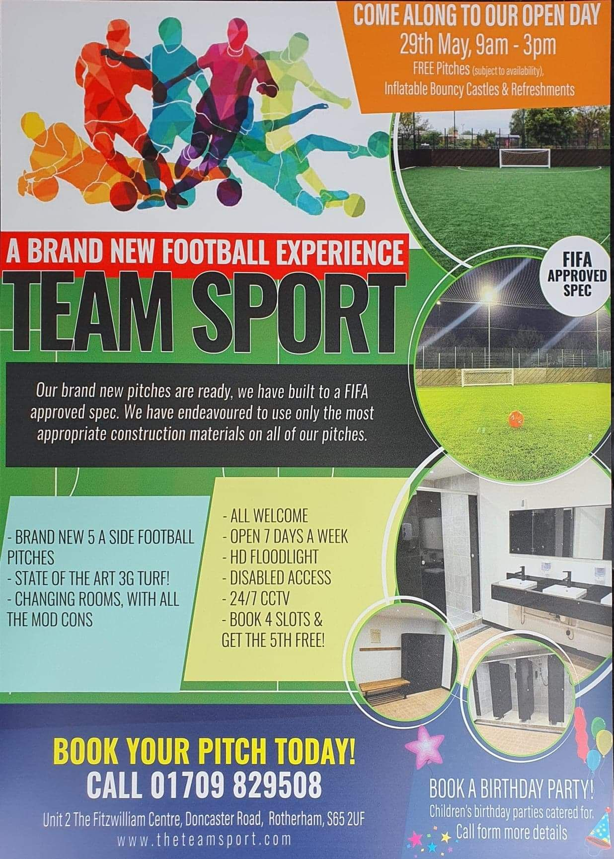 Now the season has ended for the Millers, are you still hungry for football? Get your fix down at Team Sport opening in Rotherham - Here's a flyer with details of an open event on 29th May and there's lots more info across at their website which is www.theteamsport.com